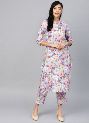 Rayon Printed Multi Colour Party Wear Kurti