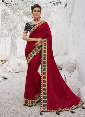 Red Border Ceremonial Traditional Saree