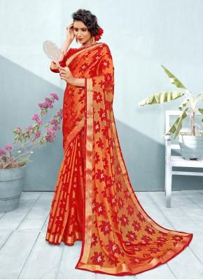 Red Brasso Trendy Saree