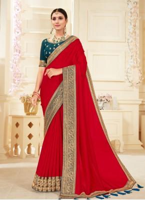 Red Ceremonial Classic Designer Saree