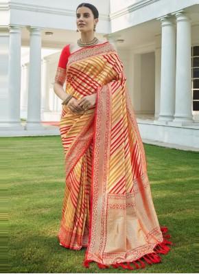 Red Fancy Silk Traditional Designer Saree