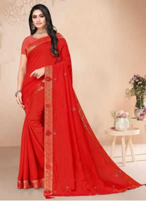 Red Festival Classic Saree