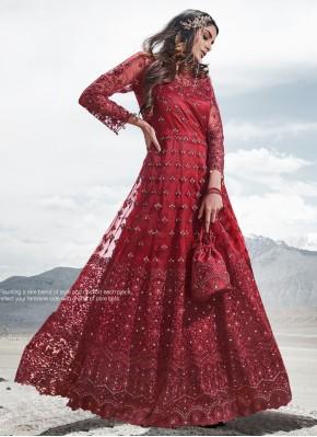 Red Reception Anarkali Salwar Kameez