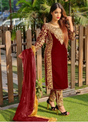 Red Wedding Pant Style Suit
