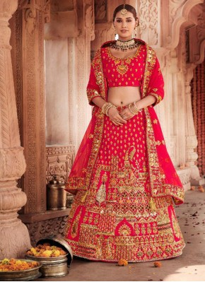 Red Wedding Trendy Lehenga Choli