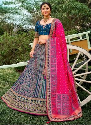 Refreshing Embroidered Silk Bollywood Lehenga Choli