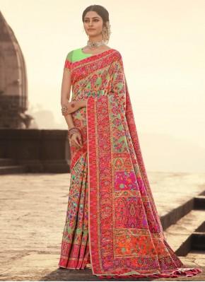 Refreshing Weaving Festival Traditional Designer Saree