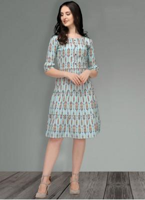 Regal Printed Cotton Multi Colour Party Wear Kurti