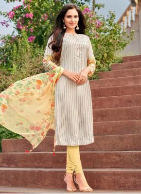 Remarkable Cotton Multi Colour Embroidered Churidar Suit