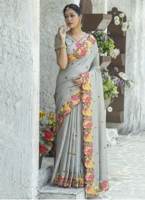 Remarkable Embroidered Traditional Saree