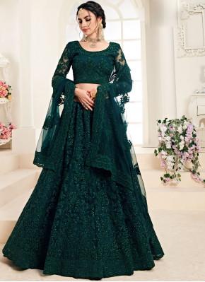 Remarkable Green Wedding Trendy A Line Lehenga Choli