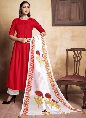 Remarkable Rayon Designer Palazzo Suit