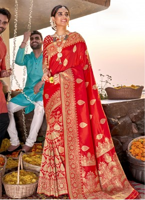 Renowned Banarasi Silk Sangeet Designer Saree