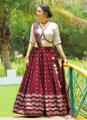 Renowned Chiffon Sequins Work Designer Readymade Lehngha Choli