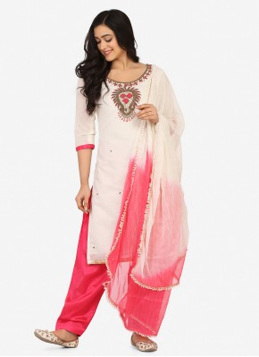 Riveting Embroidered Party Patiala Suit