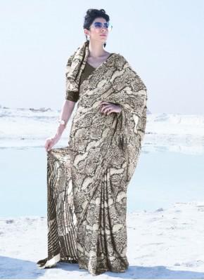 Riveting Printed Multi Colour Classic Saree