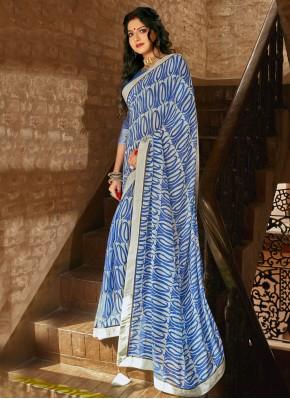Riveting Printed Saree For Casual