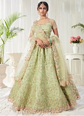 Riveting Sea Green Wedding Lehenga Choli