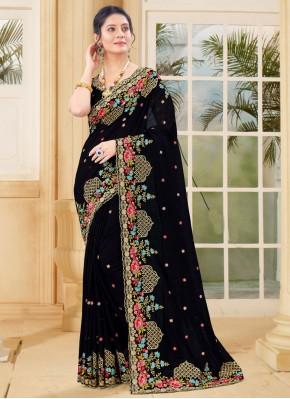 Riveting Zari Vichitra Silk Traditional Saree