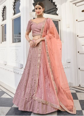 Rose Pink Silk Lehenga Choli