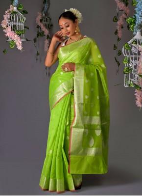 Royal Banarasi Silk Green Traditional Saree