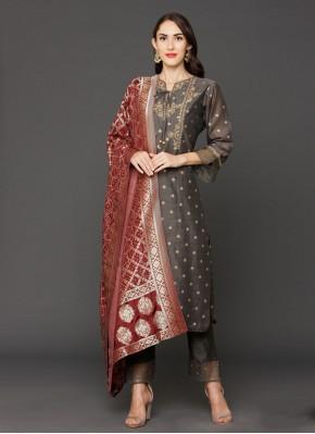 Royal Chanderi Resham Salwar Kameez