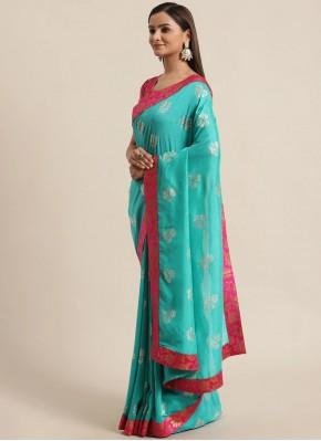 Royal Foil Print Traditional Saree