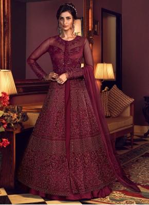 Royal Net Embroidered Floor Length Anarkali Salwar Suit