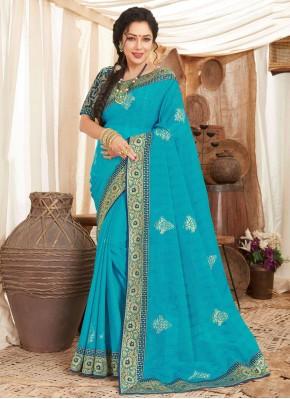 Rupali Ganguly Fancy Fabric Patch Border Designer Saree