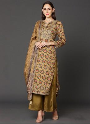 Satin Multi Colour Salwar Suit
