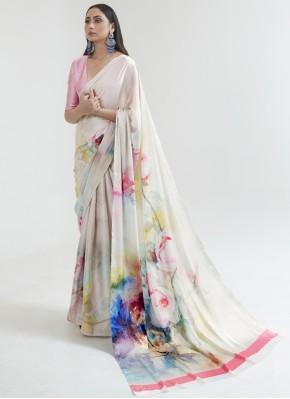 Satin Multi Colour Saree
