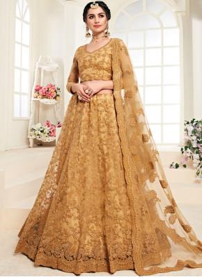 Satin Silk Mustard Trendy Lehenga Choli