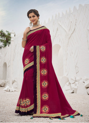 Satin Silk with Zari Work Designer Saree