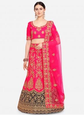 Satin Trendy Lehenga Choli in Pink