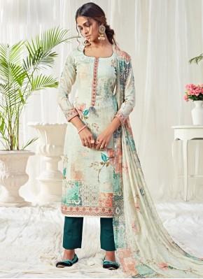 Savory Digital Print Ceremonial Trendy Straight Salwar Suit