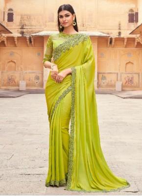 Scintillating Embroidered Engagement Designer Traditional Saree