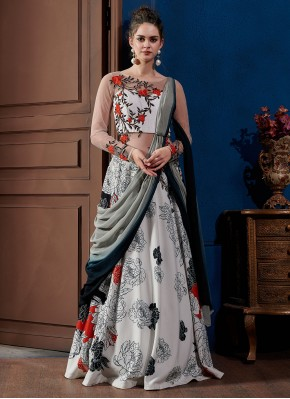 Scintillating Embroidered Fancy Fabric Designer Gown