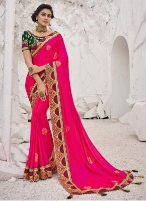 Scintillating  Satin Silk Saree
