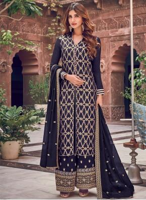 Scintillating Woven Palazzo Designer Salwar Suit