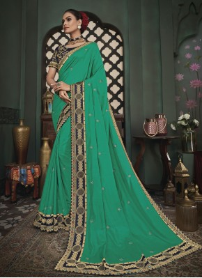 Sea Green Festival Classic Designer Saree