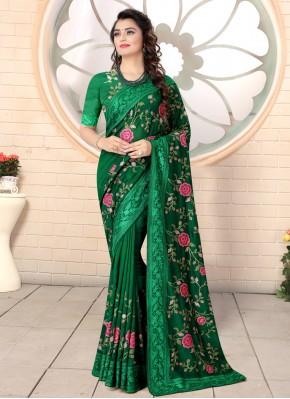 Sea Green Resham Designer Saree