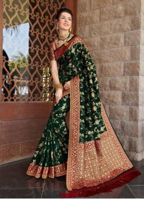 Sea Green Silk Weaving Bollywood Saree