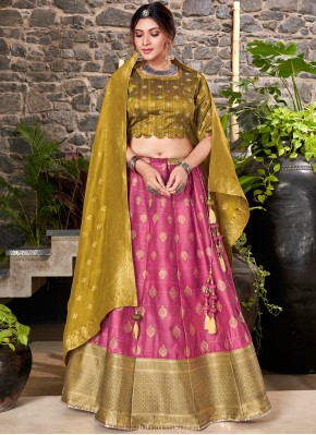 Sensational Pink A Line Lehenga Choli