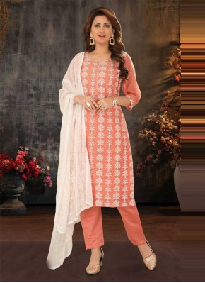 Sensible Embroidered Festival Readymade Suit