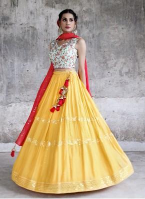 Sequins Work Chiffon Bollywood Lehenga Choli