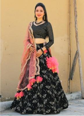 Sequins Work Chiffon Designer Readymade Lehngha Choli in