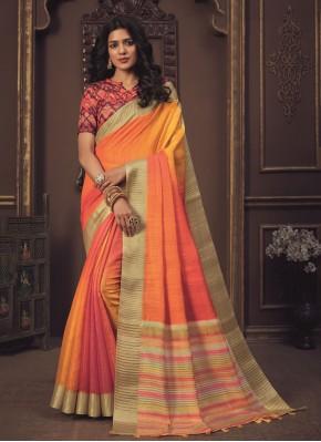 Shaded Saree Weaving Silk in Orange