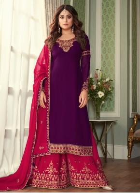Shamita Shetty Designer Palazzo Salwar Suit