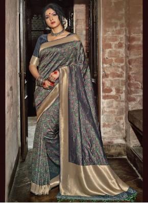 Sightly Banarasi Silk Ceremonial Traditional Designer Saree