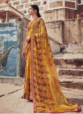 Sightly Floral Print Casual Saree